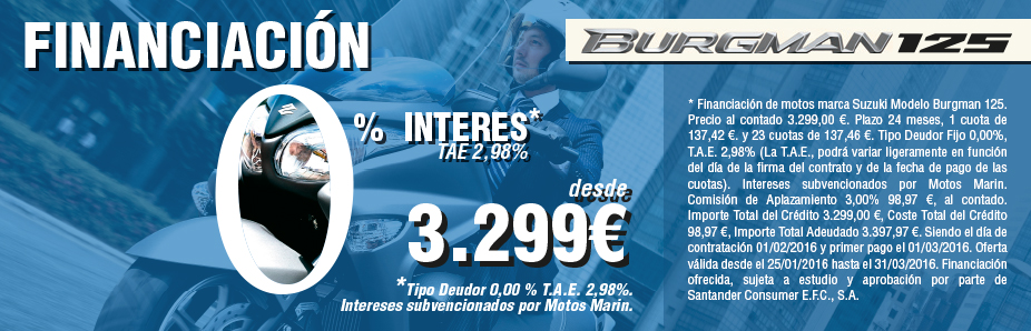 FINANCIACIÓN 0% BURGMAN