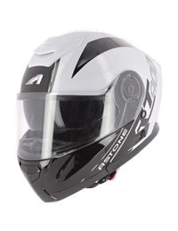 Casco modular astone rt900 stripe blanco-negro