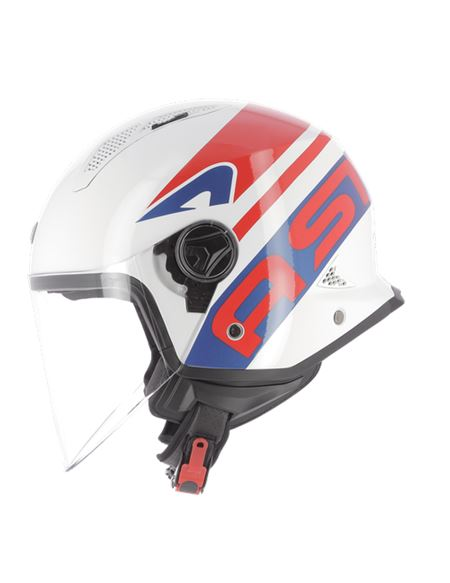 Casco astone mini jet link navy blanco-rojo - MINI-LINK-NR_1