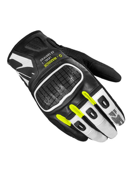 Guantes spidi g-warrior blanco-fluor - B94-394-1