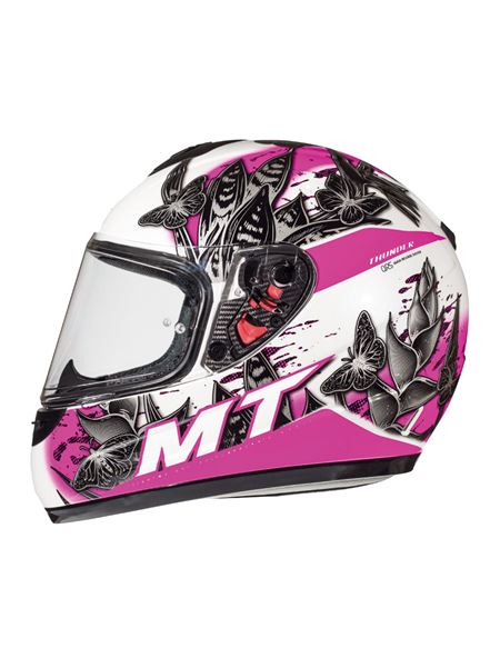 Casco mt thunder infantil breeze d8 rosa-blanco - 046071277693#ROSA-BLANCO(1)