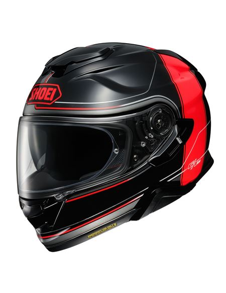 Casco shoei gt-air 2 crossbar negro-rojo tc1 - SHOEI-GT-AIR-2-CROSSBAR-TC-1
