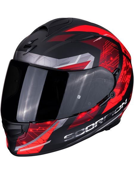 Casco scorpion exo-510 clarus rojo-negro - EXO-510-CLARUS-MATT-BLACK-RED