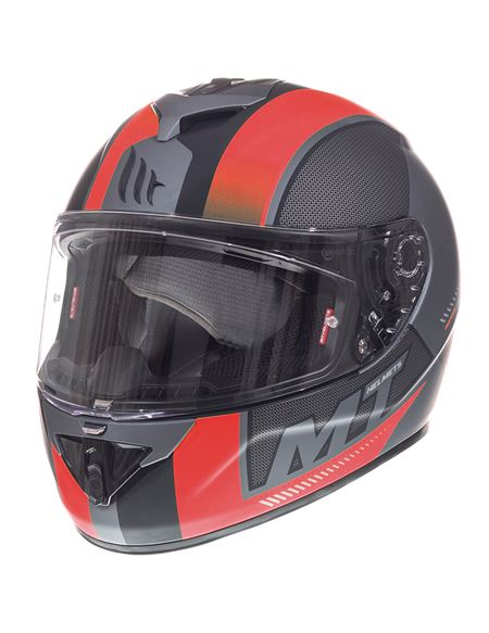 Casco mt ff104 rapide overtake b1 rojo mate - RAPIDE-OVERTAKE-B1-MATT-RED-REGULAR
