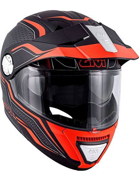 Casco givi x33 canyon layers negro mate- naranja - 046071278427 (1)