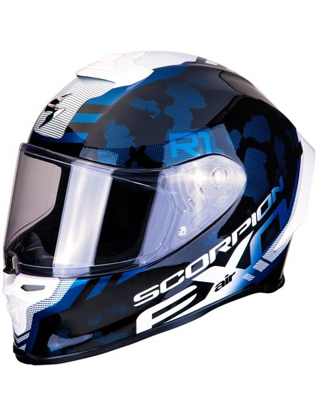 Casco scorpion exo-r1 air ogi negro-blanco