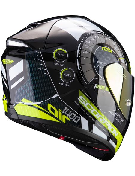 Casco scorpion exo-1400 air torque amarillo neón - 046071279226#NEGRO-AMARILLO(1)