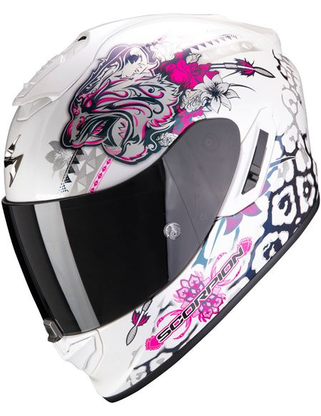 Casco scorpion exo-1400 air toa blanco-rosa - 046071279234#BLANCO-ROSA(1)