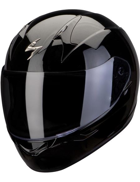 Casco scorpion exo-390 solid negro brillo - 046071279279#NEGRO-BRILLO(1)