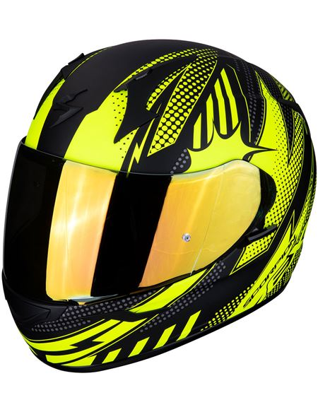 Casco scorpion exo-390 pop negro mate - amarillo - 046071279280#NEGRO-MATE-AMARILLO(1)