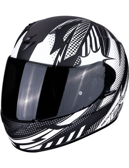 Casco scorpion exo-390 pop negro mate - blanco - 046071279281#NEGRO-MATE-BLANCO(1)