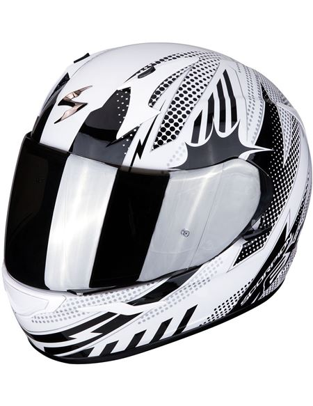 Casco scorpion exo-390 pop blanco - negro - 046071279282#BLANCO-NEGRO(1)