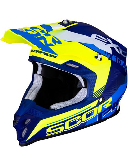 Casco scorpion vx-16 air ahrus azul mate-amarillo - 046071279296#AZUL-MATE-AMARILLO-NEON(1)
