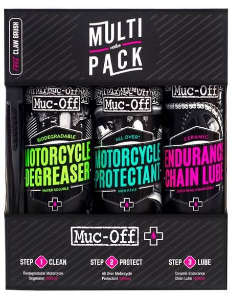Kit limpieza muc-off multi value pack 670 - 046071279315