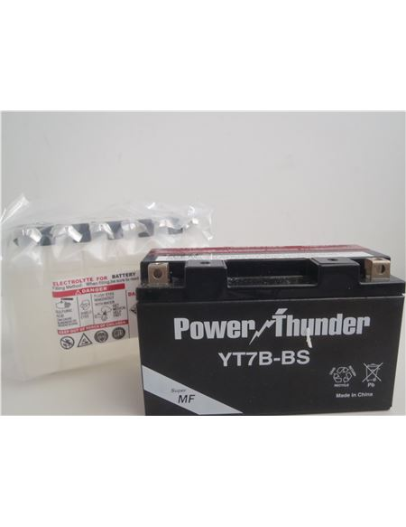 Bateria yt7b-bs power thunder - BATERIA YT7B-BS