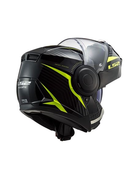 Casco modular ls2 ff902 scope negro fluor - 046071279487 (2)