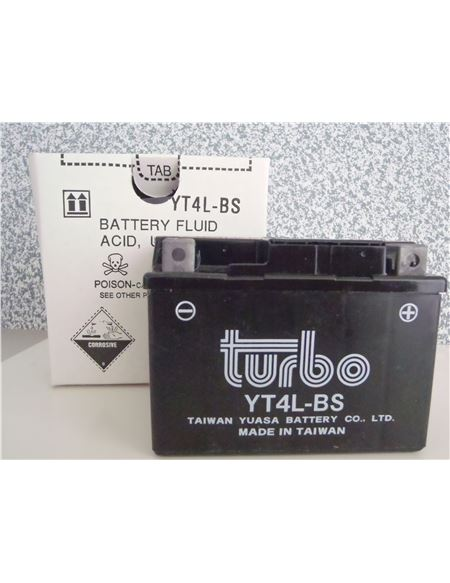 Bateria turbo ytx4l-bs - BATERIA TURBO YTX4L-BS