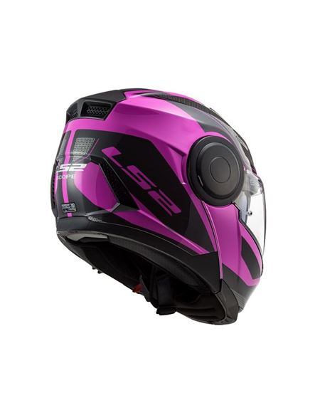 Casco modular ls2 ff902 scope negro rosa - 046071279492