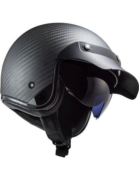Casco ls2 of601 bob c carbon - 046071279505