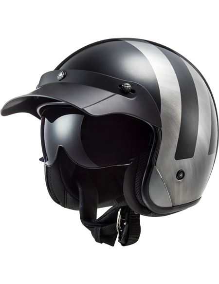 Casco ls2 of601 bob lines hpfc black jeans - 046071279508