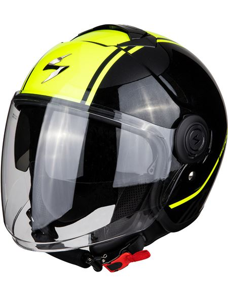 Casco scorpion exo-city avenue negro - amarillo - 046071279516#NEGRO-AMARILLO(1)