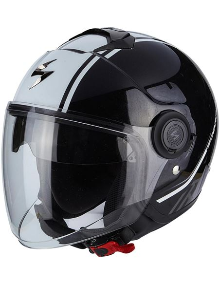 Casco scorpion exo-city avenue negro - blanco - 046071279517#NEGRO-BLANCO(1)