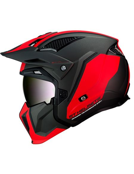 Casco mt streetfigthter sv twin c5 rojo-negro mate - 046071279559