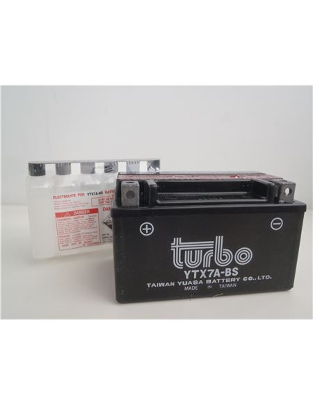 Bateria turbo ytx7a-bs - BATERIA TURBO YTX7A-BS