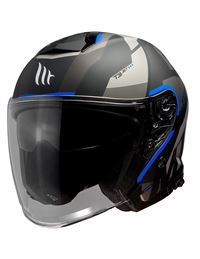 Casco mt of504sv thunder 3 jet bow a7 azul mate