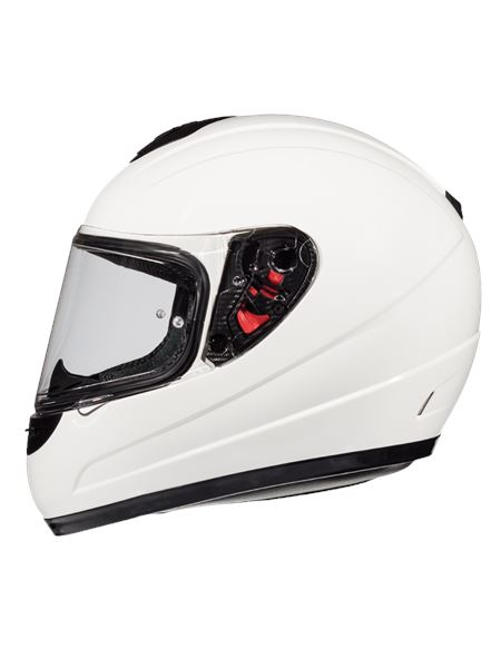 Casco mt thunder infantil solid blanco-brillo - 046071280023
