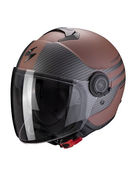 Casco scorpion exo-city moda marron mate - negro - 046071281558#MARRON-MATE-NEGRO(1)