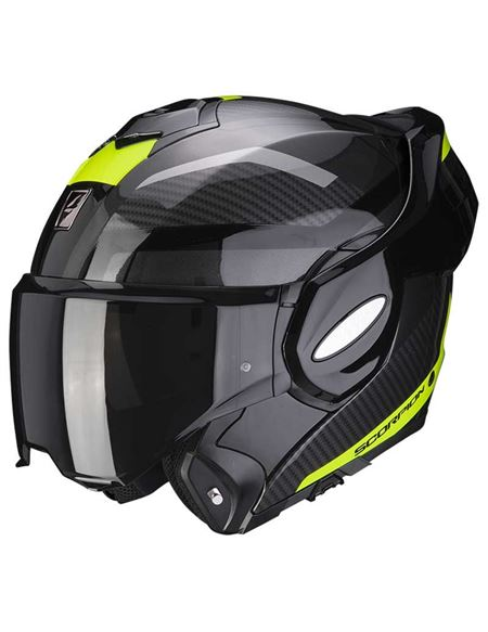 Casco scorpion exo-tech trap negro/amarillo neon - 046071282128 (2)