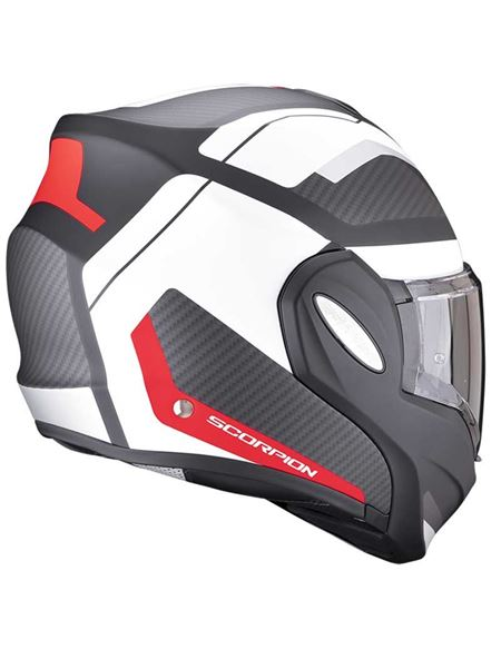 Casco scorpion exo-tech trap negro mate/rojo/blanc - 046071282129 (2)