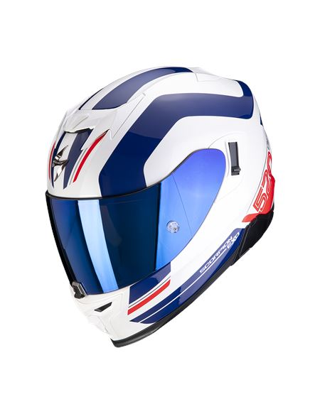 Casco scorpion exo-520 air lemans blanco/azul/rojo - 046071282081