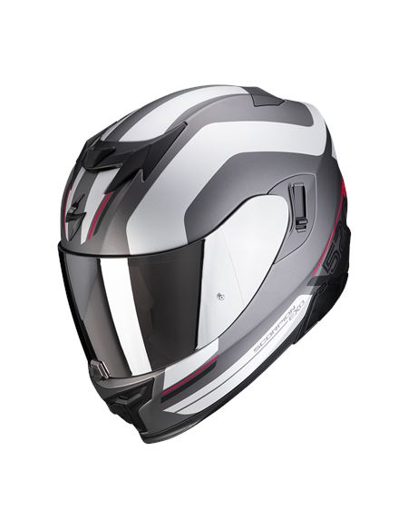 Casco scorpion exo-520 air lemans plata mate/rojo - 046071282084