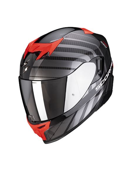Casco scorpion exo-520 air shade negro/rojo - 046071282091