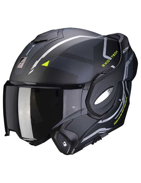 Casco scorpion exo-tech square negro/amarillo mate - 046071282133 (2)