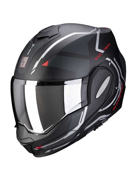 Casco scorpion exo-tech square negro/rojo mate - 046071282134 (1)