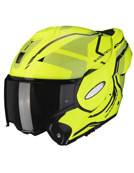 Casco scorpion exo-tech square amarillo fluor/nego - 046071282136 (2)