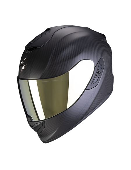 Casco exo-1400 air carbon solid negro mate - EXO1400 CARBON NEGRO MATE