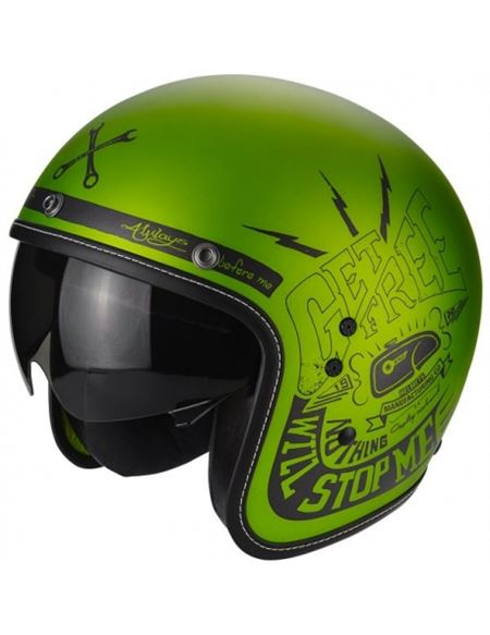 Casco scorpion belfast fender verde mate