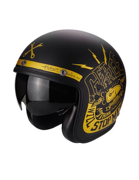 Casco scorpion belfast fender negro mate - 81-225-61_1