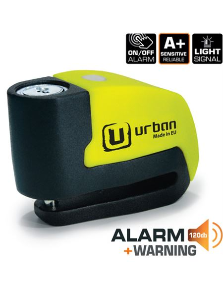 Antirrobo urban ur6 alarm warning amarillo - URBAN_ALARMAUR6
