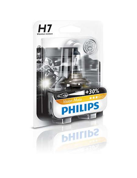 Lampara h7 30%+ vision moto philips - 12972PRBW-PID-GLOBAL-001