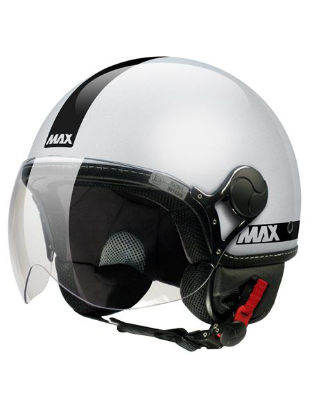 Casco max power plata brillo - MAX_POWER_ARGENTO_LUCIDO_DECAL_NERA_01_PLATA