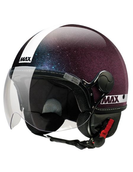 Casco max jet power iride metal - CASCO-MAX-POWER VIOLETA