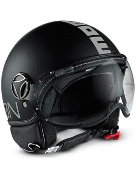 Casco momo fighter negro mate