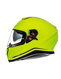Casco mt thunder 3 solid integral amarillo fluor