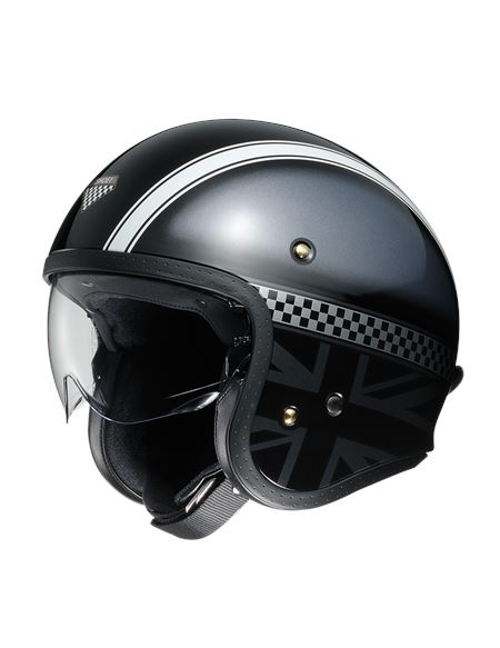 Casco shoei j.o. hawker tc5 - 0460704338#NEGRO-BLANCO
