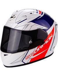 Casco scorpion exo-710 air line blanco-rojo-az